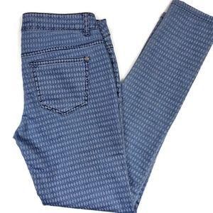 Patterned Celebrity Pink Skinny Jeans Size 7